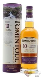Tomintoul 10 years old Speyside single malt whisky 40% vol.  0.70 l