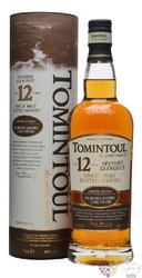 "Tomintoul "" Oloroso sherry cask "" aged 12 years Speyside single malt whisky 40%vol.    0.70 l"
