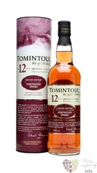 "Tomintoul "" Portwood finish "" aged 12 years Speyside single malt whisky 40% vol.    0.70 l"