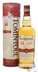 Tomintoul aged 14 years Speyside single malt whisky 40% vol.  0.70 l