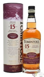 Tomintoul ,, Portwood finish ´´ aged 15 years Speyside single malt whisky 46% vol.  0.70 l