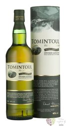 "Tomintoul "" Peaty Tang "" Speyside single malt whisky 4O% vol.     0.70 l"