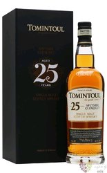 Tomintoul aged 25 years Speyside single malt whisky 43% vol.  0.70 l