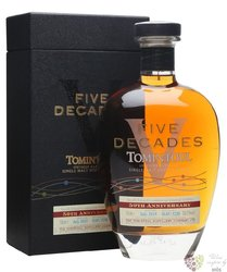 "Tomintoul "" Five Decades 50th Anniversary "" Speyside Glenlivet single malt whisky 50% vol.  0.70 l"