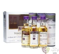 "Tomintoul "" 3pack "" Speyside single malt whisky 3 x 0.05 l"