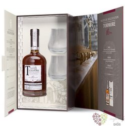 Tormore 16 years old glass set Speyside single malt whisky 48% vol.  0.70 l