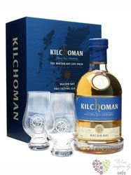 "Kilchoman "" Machir bay "" 2glass pack Islay single malt whisky 46% vol.  0.70 l"