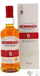 Benromach 15 years old 2020 release Speyside whisky 43% vol.  0.70 l