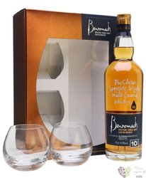 Benromach 10 years old 2glass pack single malt Speyside whisky 40% vol.    0.70l