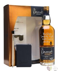 Benromach 10 years old note book pack single malt Speyside whisky 43% vol.  0.70 l