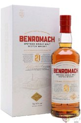 Benromach 21 years old single malt Speyside whisky 43% vol.  0.70 l