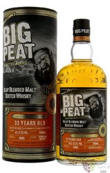 """Big Peat 1985 """" Cognac Sherry """" aged 33 years Islay blended malt whisky 47.2% vol.  0.70 l"""