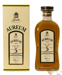 "Aureum 1965 "" Chestnut cask "" single malt German whisky by Ziegler 43% vol.  0.70 l"