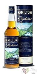 "Hamiltons "" Highland "" single malt Speyside whisky 40% vol. 0.70 l"