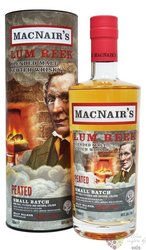 MacNairs Lum Reek Peated blended malt Scotch whisky by GlenAllachie 46% vol.  0.70 l