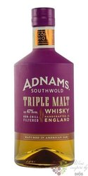"Adnams Southwold "" Triple malt "" Single malt English whisky 47% vol.  0.70 l"