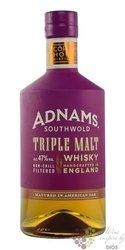"Adnams Southwold "" Triple malt "" Single malt English whisky 47% vol.  0.70 l"