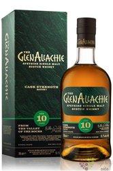 "GlenAllachie "" Cask strength batch 2. "" aged 10 years single malt Speyside whisky 54.8% vol.  0.70 l"