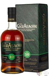 "GlenAllachie "" Cask strength batch 3. "" aged 10 years single malt Speyside whisky 58.2% vol.  0.70 l"