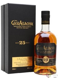 GlenAllachie aged 25 years single malt Speyside whisky 46% vol.  0.70 l
