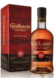 "GlenAllachie "" Port Wood "" aged 10 years single malt Speyside whisky 48% vol.  0.70 l"