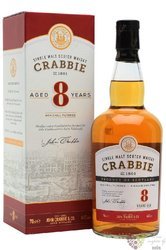 John Crabbies 8 years old single malt whisky of England 40% vol.  0.70 l