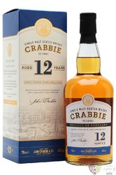 John Crabbies 12 years old single malt whisky of England 43% vol.  0.70 l