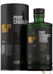 """Port Charlotte 2009 """" mc.01 """" Islay whisky by Bruichladdich 56.3% vol.  0.70 l"""