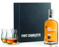 "Port Charlotte "" Scottish Barley Heavily Peated "" gift set single malt Islay whisky 50% vol.  0.70 l"