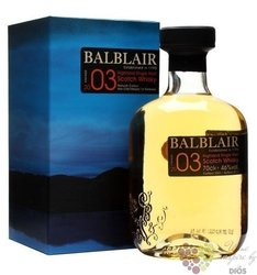 Balblair 2003 vintage single malt Highland whisky 46% vol.    0.70 l