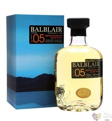 Balblair 2005 vintage single malt Highland whisky 46% vol.  0.70 l