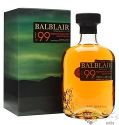 Balblair 1999 single malt Highland whisky 46% vol.     0.70 l