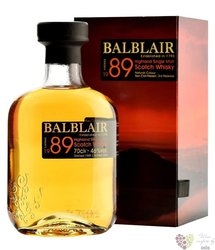 Balblair 1989 single malt Highland whisky 43% vol.  0.70 l