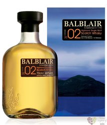 Balblair 2002 vintage single malt Highland whisky 46% vol.    0.70 l