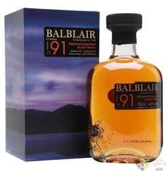 Balblair 1991 single malt Highland Scotch whisky 46% vol.  0.70 l
