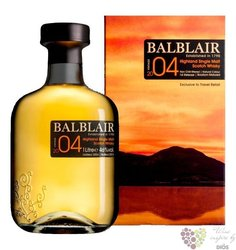 "Balblair 2004 "" Bourbon matured "" single malt Highland whisky 46% vol.  1.00 l"