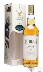 "Balblair 1979 "" Rare vintage "" bott.2010 Highland whisky by Gordon & MacPhail 43% vol.  0.70 l"