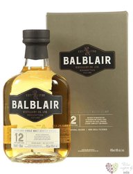 Balblair aged 12 years Single malt Highland whisky 46% vol.  0.70 l