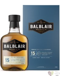Balblair aged 15 years Single malt Highland whisky 46% vol.  0.70 l