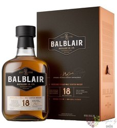 Balblair aged 18 years Single malt Highland whisky 46% vol.  0.70 l