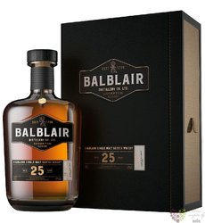 Balblair aged 25 years Single malt Highland whisky 46% vol.  0.70 l