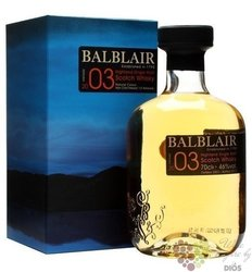 Balblair 2003 vintage single malt Highland whisky 46% vol.    0.05 l