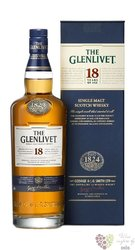 Glenlivet 18 years old Speyside single malt whisky 43% vol.  0.70 l