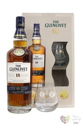 Glenlivet 18 years old 2glass pack Speyside single malt whisky 43% vol.    0.70l