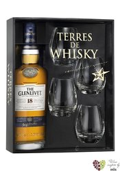 Glenlivet 15 years old 4glass pack Speyside single malt whisky 40% vol.  0.70 l