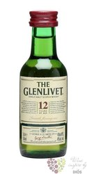 Glenlivet 12 years old Speyside single malt whisky 40% vol.    0.05 l