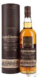 "GlenDronach "" Traditionally Peated "" single malt Speyside whisky 48%vol.  0.70 l"