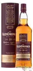 "GlenDronach "" Forgue "" aged 10 years single malt Highland whisky 43% vol.  1.00l"