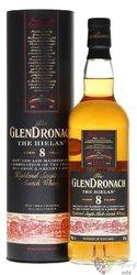 "GlenDronach "" the Hielan "" aged 8 years single malt Highland whisky 46% vol.  0.70 l"
