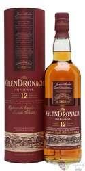 "GlenDronach "" Original "" aged 12 years single malt Highland whisky 40% vol.    1.00 l"